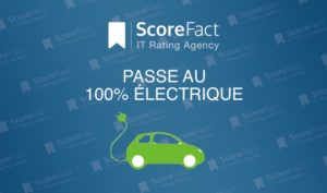 ScoreFact passe 100% de sa flotte automobile en electrique