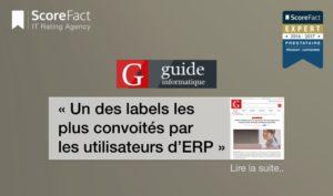 Label convoité par les utilisateurs ERP