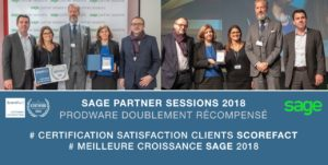 Prodware double certification SAGE ScoreFact